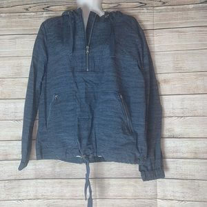 Lou & grey blue pull over jacket